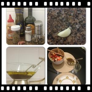 ingredientes e o molho pronto!