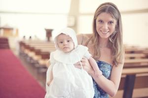 Marcellinha e eu na Igreja
